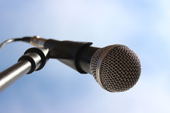 Microphone with cable Stock Images