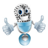 Microphone cartoon character. Giving double thumbs up  illustration Stock Photo