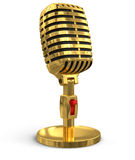 Microphone (clipping path included) Stock Images