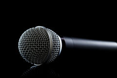 Microphone. Close up on black Royalty Free Stock Photo