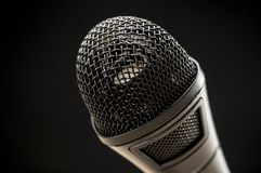 Microphone close up Stock Photos