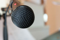 Microphone. Close-up microphone on concert Royalty Free Stock Photography
