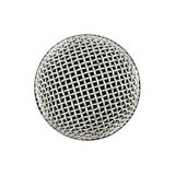 Microphone close up top view isolated on white Stock Images