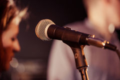 Microphone closeup Royalty Free Stock Image