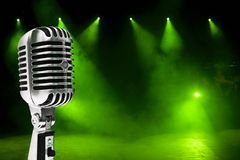 Microphone On Colorful Background Royalty Free Stock Photo
