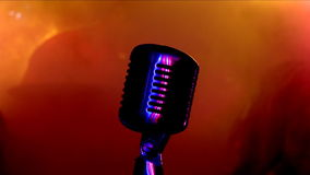Microphone. Microphone, colour lights, rock Concert stock video footage