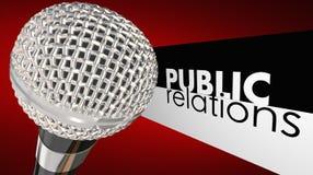 Microphone Commuincation de RP de relations publiques Images stock