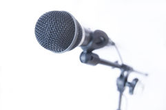 Microphone conceptual image. Microphone on tripod Stock Photo