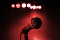 Microphone at concert royalty free stock photos