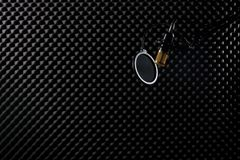 Microphone Condenser sound absorbing wall room royalty free stock photos