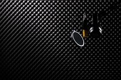 Microphone Condenser sound absorbing wall room royalty free stock photo