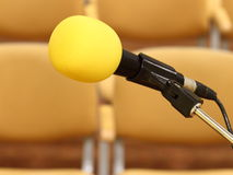 Microphone at conference Stock Image