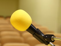 Microphone at conference Royalty Free Stock Photos