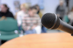 Microphone at conference. Stock Image
