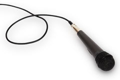 Microphone with cord Stock Image