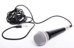 Microphone With Cord For Lead Singer Stock Images