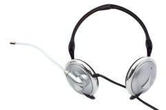 microphone d'écouteurs de grondement Photos libres de droits