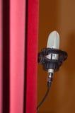 Microphone dans l'étape Photos libres de droits