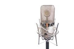 Microphone dans le type de cru Photos libres de droits