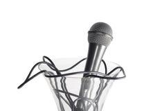 Microphone dans le vase photos libres de droits