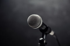 Microphone. On a dark background Stock Photography