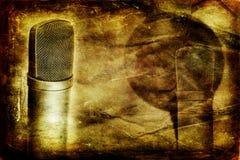 Microphone de condensateur de cru Photo libre de droits