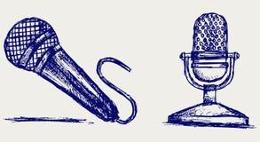 Microphone de croquis Photographie stock