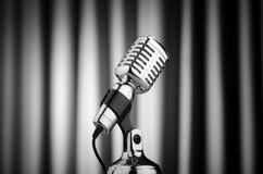 Microphone de cru Photos libres de droits