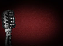 microphone de fond rétro Photo libre de droits