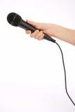 microphone de main Images libres de droits