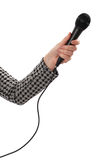 microphone de main image libre de droits