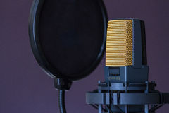 Microphone de studio Images stock