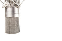 Microphone de studio de condensateur sur le fond blanc Photos stock