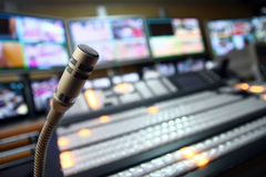 Microphone de studio de TV Photographie stock