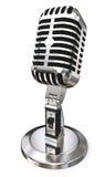 Microphone de vintage de Chrome photographie stock libre de droits