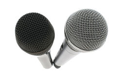 Microphone deux Photo stock