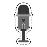 Microphone device icon Stock Images