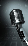 Microphone. Digital illustration of steel microphone in colour background Royalty Free Stock Photography