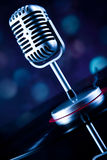 Microphone, Disco Ball, music saturated concept Royalty Free Stock Photos