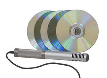 Microphone and disks Royalty Free Stock Photo