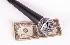Microphone and dollar Stock Photo