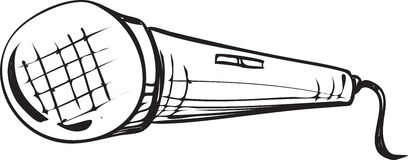 Microphone Doodle stock illustration