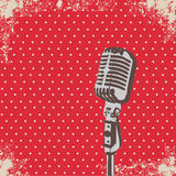 Microphone Dot vector. Retro Microphone Dot Background vector Royalty Free Stock Photo