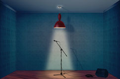 Microphone. On a empty room Royalty Free Stock Photo