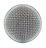 Microphone en gros plan d'isolement sur le fond blanc Images libres de droits