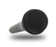 Microphone en gros plan d'isolement sur le fond blanc Photos stock