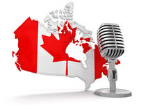 Microphone et Canada (chemin de coupure inclus) Photos libres de droits