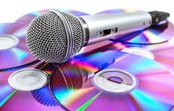 Microphone et CD Photos stock