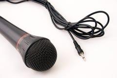 Microphone et fiche Images stock