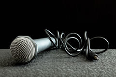 Microphone et fil Images libres de droits